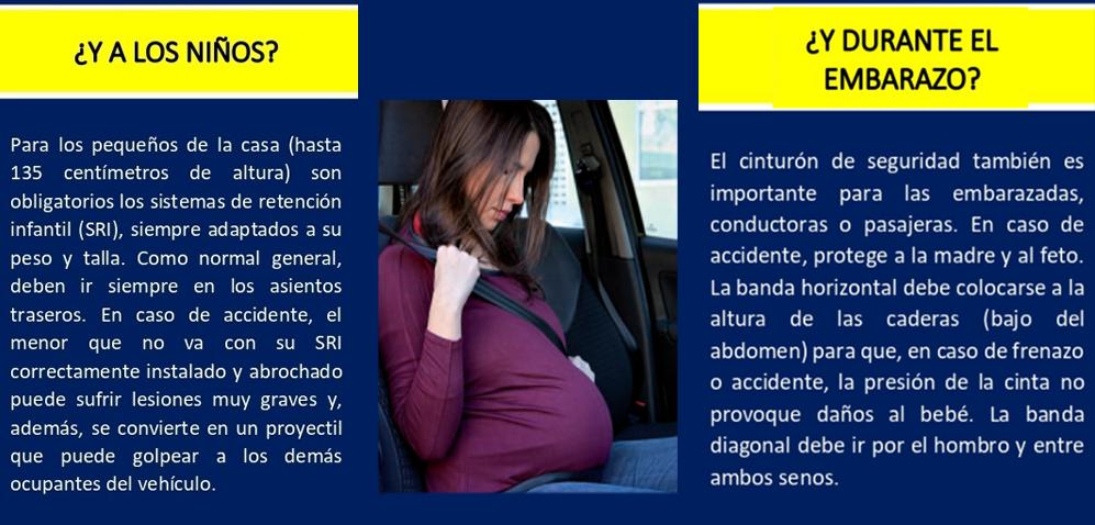 Cinturon de seguridad mujer embarazada